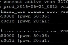 show-zoneset active-vsan