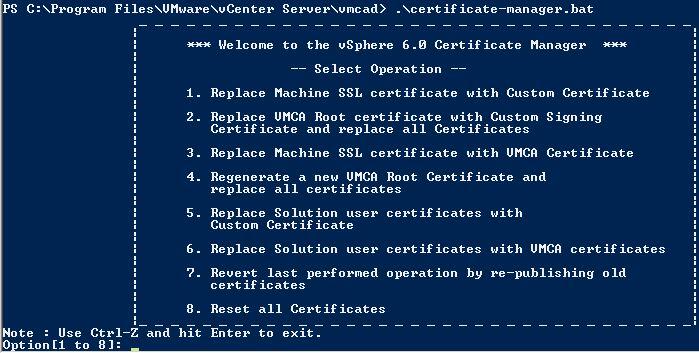 How to install a new Certificate for vCenter Server – Chris – vBlog