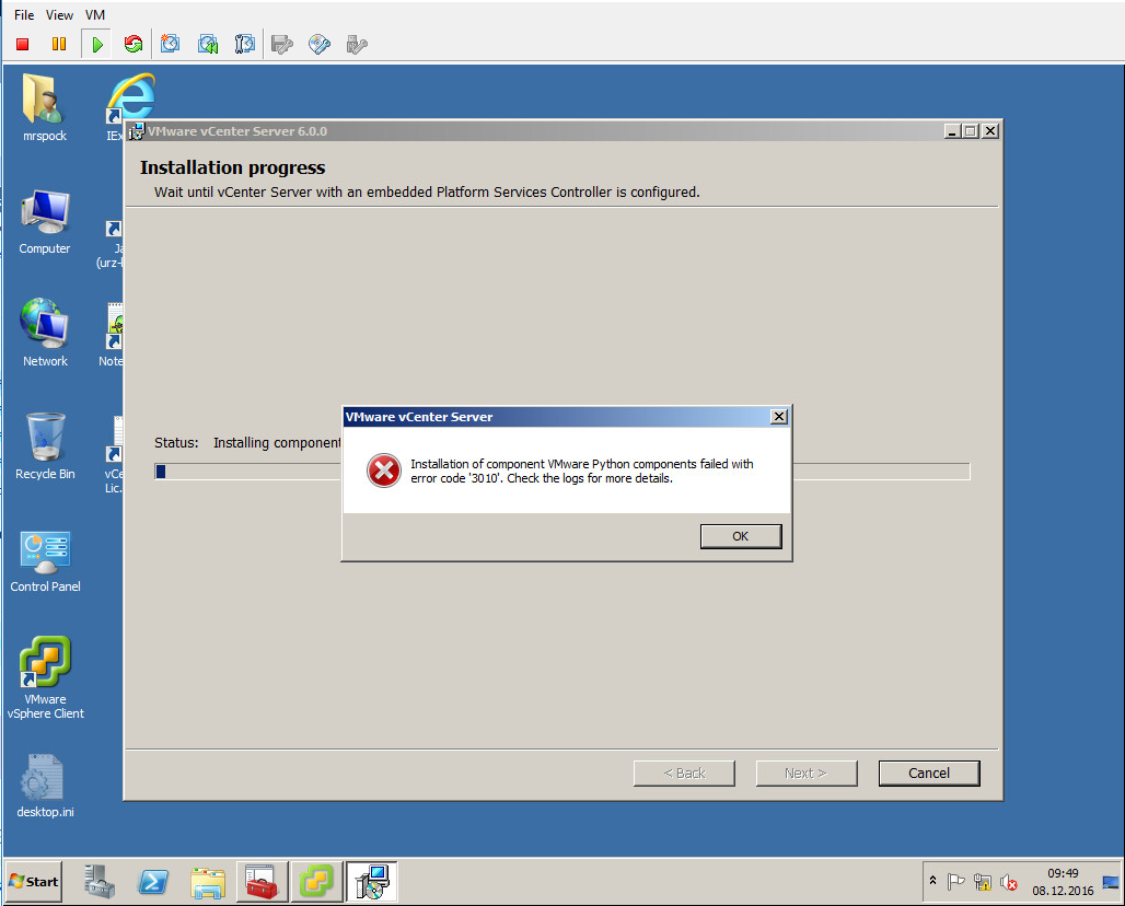 Read this before upgrade to vCenter 6 0 U2a (Windows